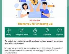 Nro 35 kilpailuun Welcome E-Mail Design - UI/UX Designer käyttäjältä jomidar369