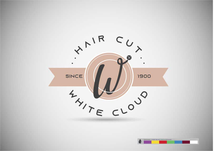 Penyertaan Peraduan #95 untuk This logo is for man saloon and its name is white cloud .. I need creative logo