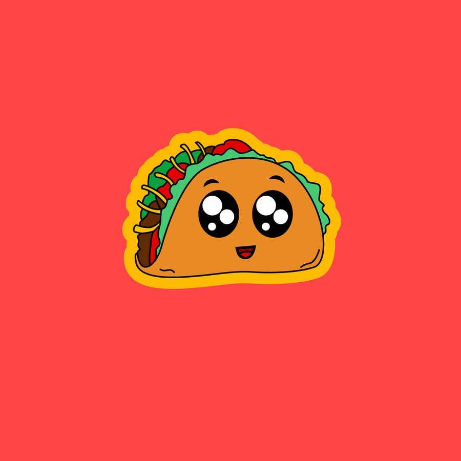 Kilpailutyö #21 kilpailussa Design a unique transparent taco sticker for a label