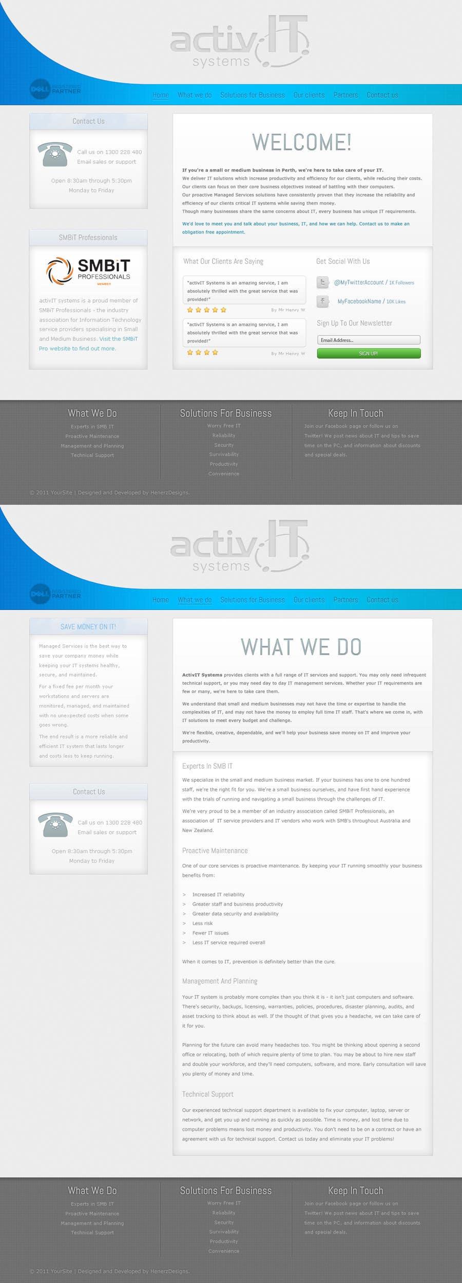 Penyertaan Peraduan #37 untuk Website Design for activIT systems