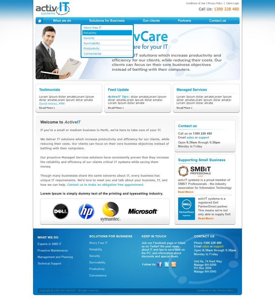 Proposition n°49 du concours Website Design for activIT systems