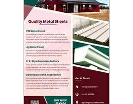 "#52 for Sell Sheet - PBR Metal Panel, Ag Metal Panel & 6"" K-Style Seamless Gutters af shahzadhai888"