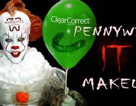 #3 for Use my face on Pennywise the clowns using our logo as the mark on our face. With green balloon that has ClearCorrect on it. af NaufalJundi19