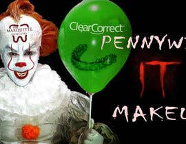 #4 for Use my face on Pennywise the clowns using our logo as the mark on our face. With green balloon that has ClearCorrect on it. af NaufalJundi19