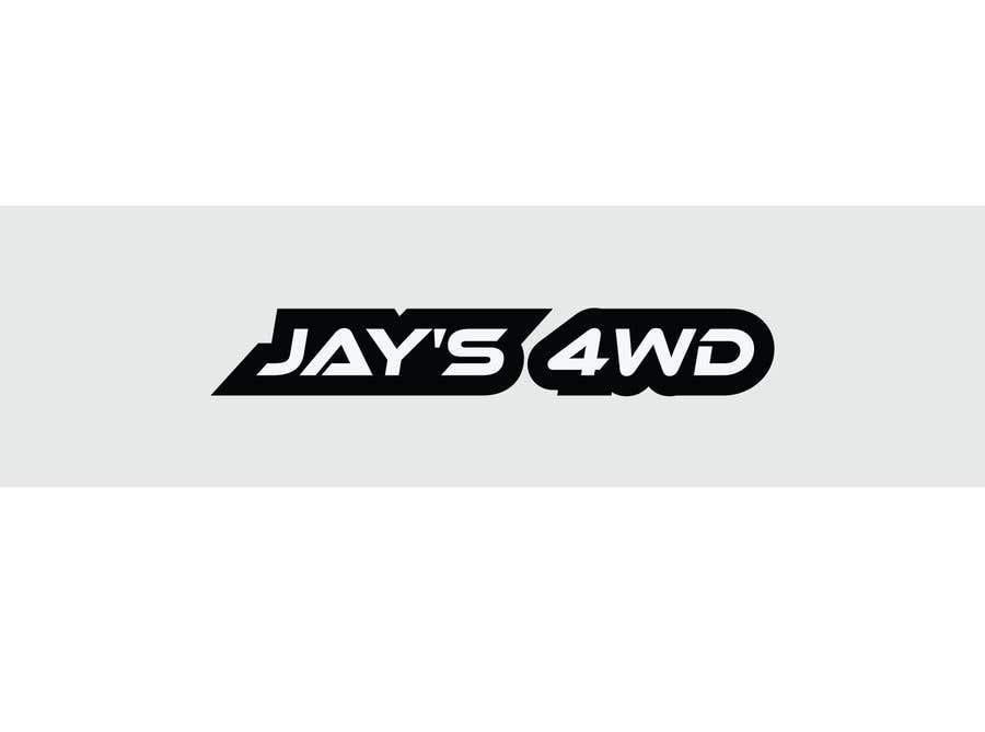 "Penyertaan Peraduan #58 untuk simple old Toyota truck Logo for ""Jay's 4WD"""