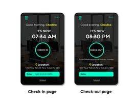 #2 para UI design for mobile app (location-based check-in) por fanchastic101