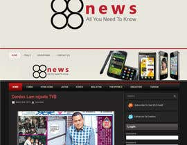 nº 52 pour Logo + Header Backgroun Design for 88news par HammyHS