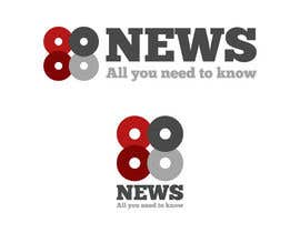 nº 23 pour Logo + Header Backgroun Design for 88news par lopezflorian