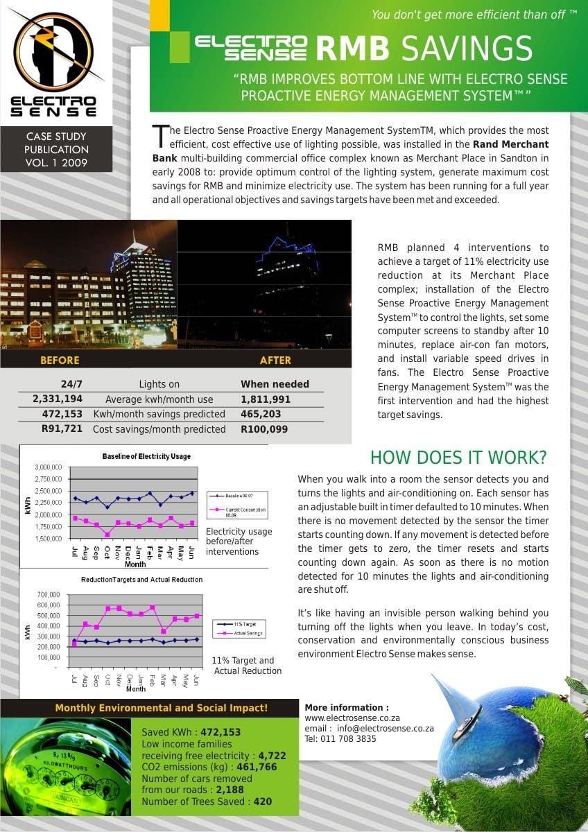 Contest Entry #                                        5                                      for                                         Brochure Design for Electro Sense