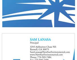 #89 Business Card Design for New Star Environmental részére eliespinas által