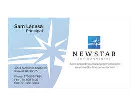 ulogo tarafından Business Card Design for New Star Environmental için no 92