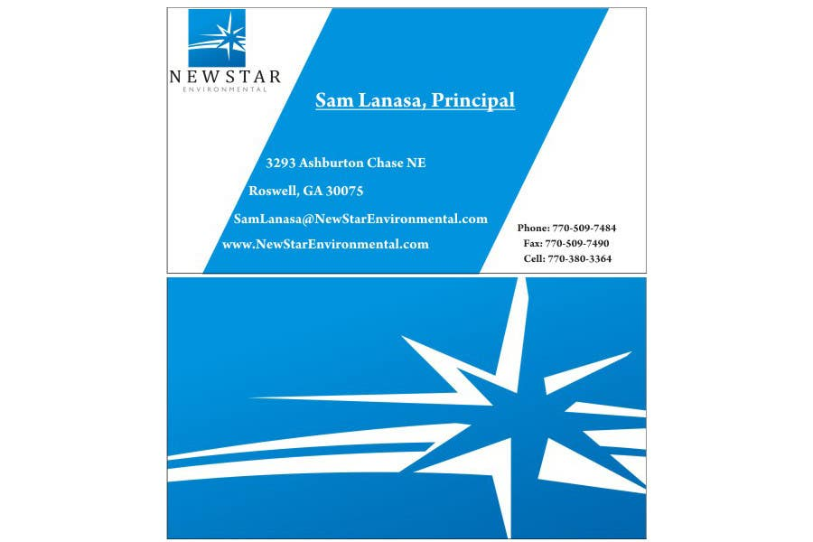 Contest Entry #7 for Business Card Design for New Star Environmental