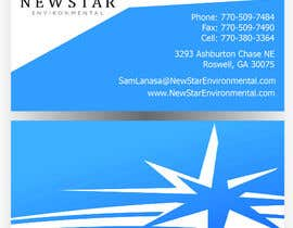 #111 para Business Card Design for New Star Environmental por rob73a