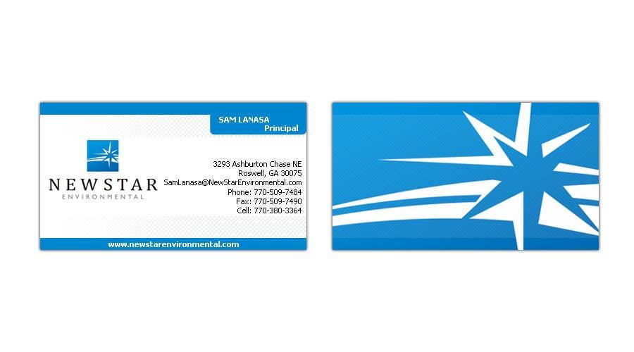 Конкурсная заявка №83 для Business Card Design for New Star Environmental