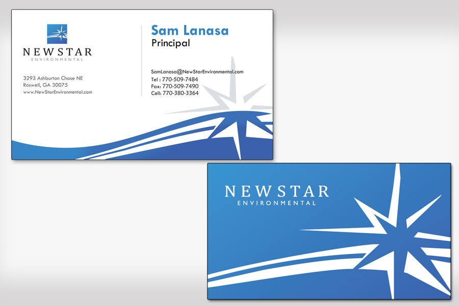 Penyertaan Peraduan #114 untuk Business Card Design for New Star Environmental