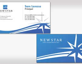 #114 Business Card Design for New Star Environmental részére rickyokita által