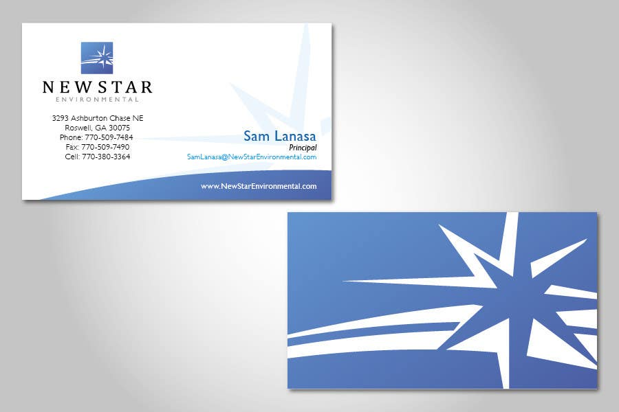 Proposition n°80 du concours Business Card Design for New Star Environmental