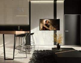 #25 for living room with small kitchen design by joksimovicana