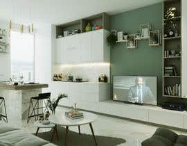 #19 for living room with small kitchen design by indrabudiman80