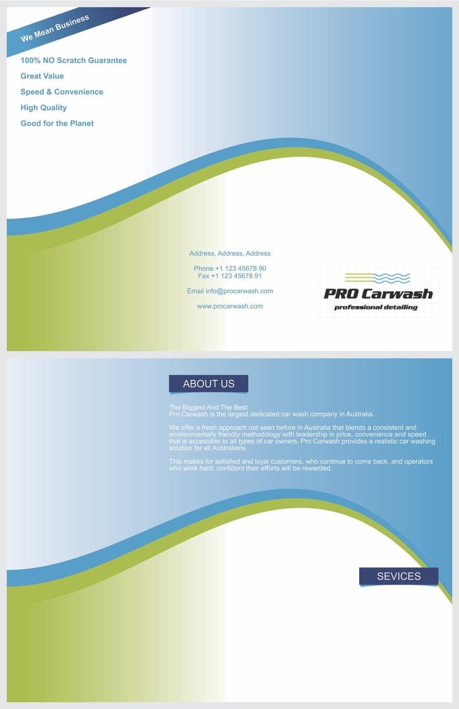 Kilpailutyö #                                        2                                      kilpailussa                                         Brochure Design for Professional Car Detailing Service