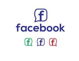 #1044 untuk Create a better version of Facebook's new logo oleh rasel14howlader