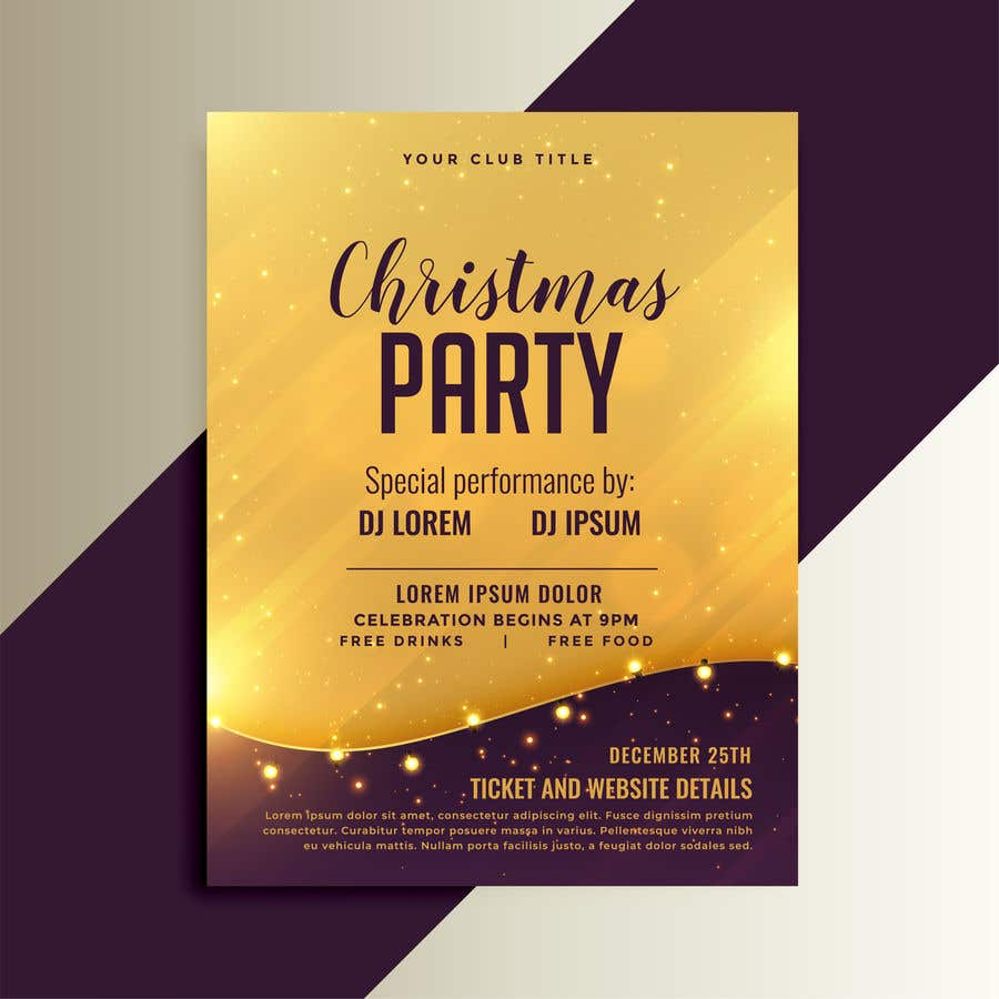 Proposition n°                                        81                                      du concours                                         Christmas Cheer Event Flyer