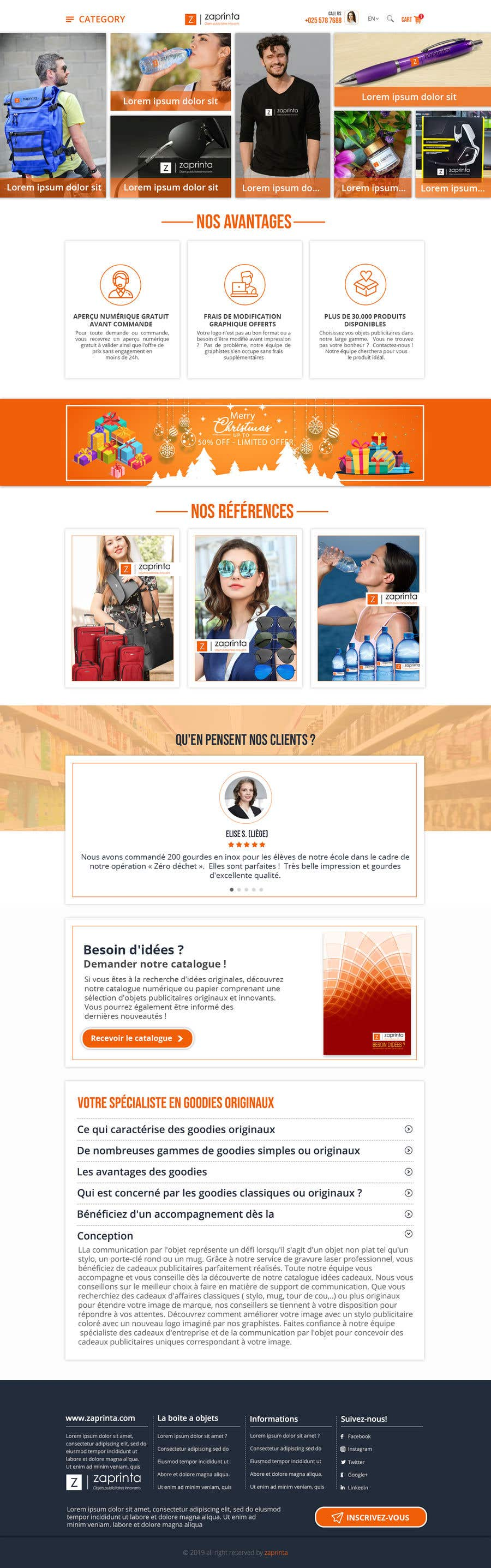 Contest Entry #64 for E-commerce homepage webdesign