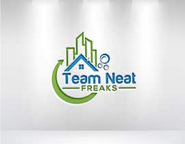 """mahiislam509308 tarafından I need a logo for my cleaning company """"Team Neat Freaks"""". Custom lettering and graphic. I've attached a few ideas I like including the colors I want it to have.  Clean but hip as well, may also have a sports team element hence the name """"Team"""" Neat Freaks için no 108"""