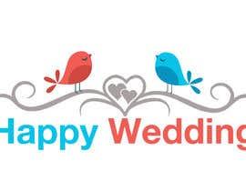 nº 654 pour Happy Weddings.Com Logo to be designed par gianfausto