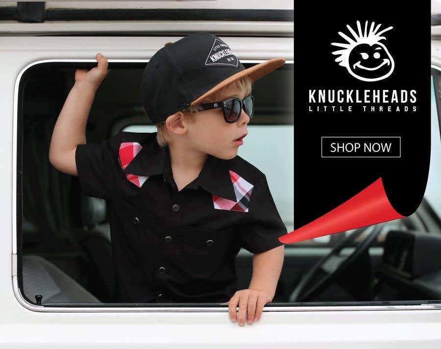 Kilpailutyö #147 kilpailussa Banner for Advertising Knuckleheads Clothing