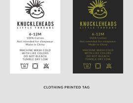 #18 untuk Clothing printed tag oleh TH1511