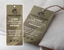 #56 untuk Clothing printed tag oleh takemenet