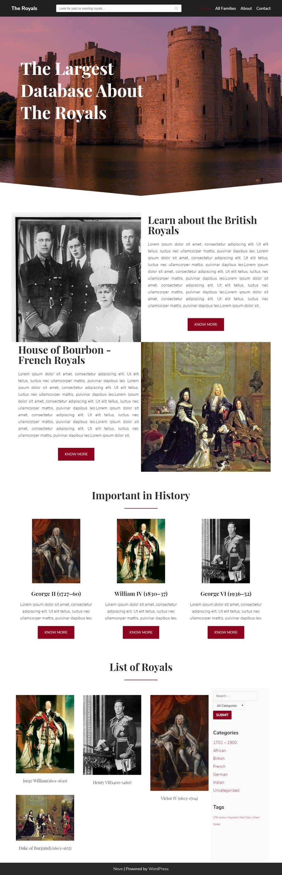Contest Entry #3 for Build a website about royal families in the world