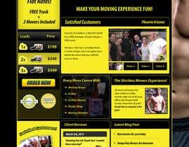 #36 para Design a Website Mockup for shirtlessmovers.com por kethketh