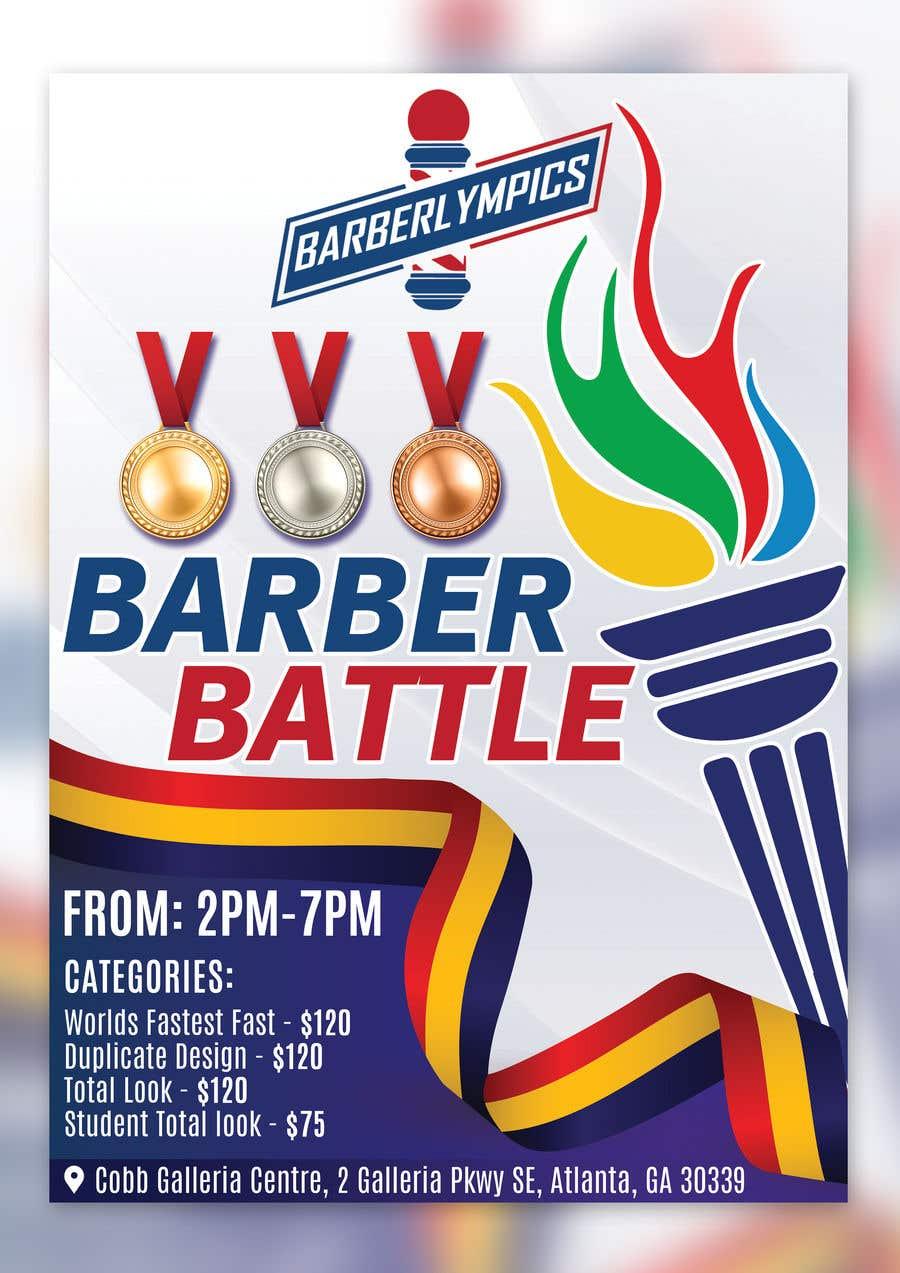 Kilpailutyö #46 kilpailussa event flyer barber battle