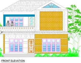 #55 untuk Draw 2D Elevation for a residential building oleh mdgssumon