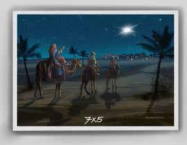 nº 13 pour Illustration of three wise men on camels par Pravidraws