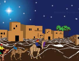 nº 7 pour Illustration of three wise men on camels par ashfaqadil54