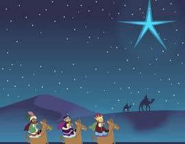 nº 2 pour Illustration of three wise men on camels par dmonasterios