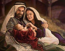 #1 for Illustration of Nativity scene with three faces (portrait work) af marianayepez