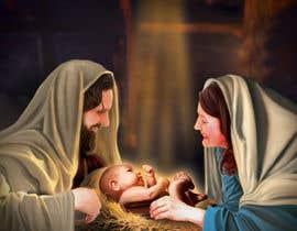 Nro 12 kilpailuun Illustration of Nativity scene with three faces (portrait work) käyttäjältä dhruvil4793