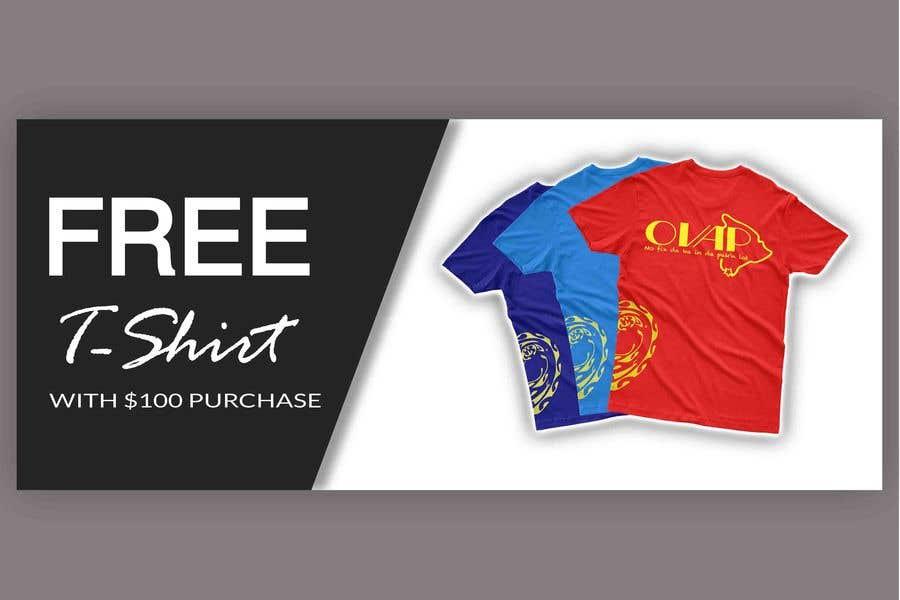 Kilpailutyö #47 kilpailussa Free T-Shirt banner