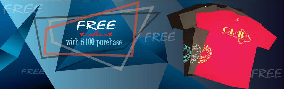 Kilpailutyö #100 kilpailussa Free T-Shirt banner