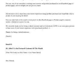 nº 11 pour Research about customer engagement emails par bjfreeland
