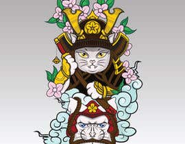 #3 untuk I need vector art of a samurai cat. I will attach photos for inspiration. This will be a mascot for an athlete placed on a rash guard. Thank you! oleh shohanone