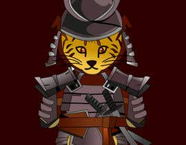 #4 untuk I need vector art of a samurai cat. I will attach photos for inspiration. This will be a mascot for an athlete placed on a rash guard. Thank you! oleh felixvectoryzer