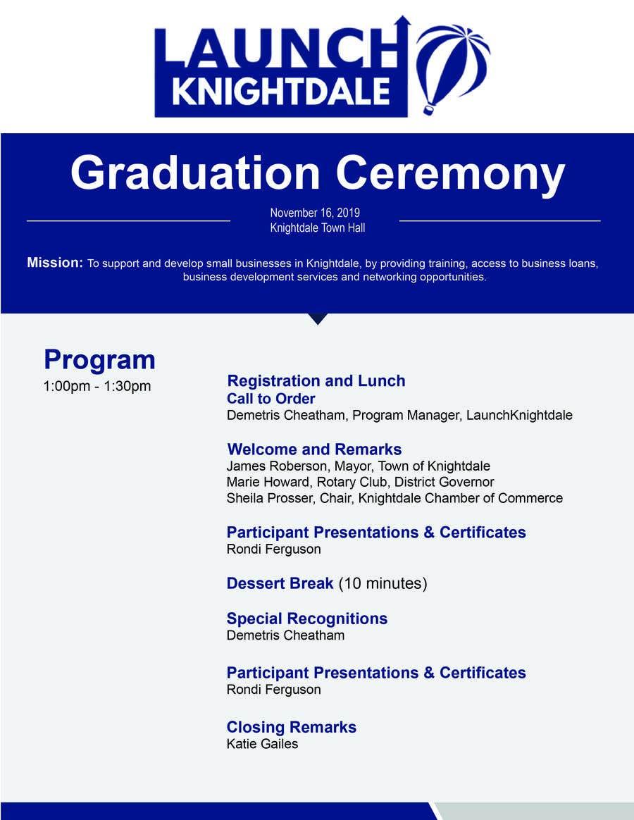 Konkurrenceindlæg #22 for 4 page program book