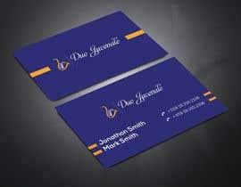 khan3270 tarafından Make a business card for musical duo için no 160