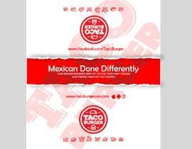 Nro 23 kilpailuun Taco Burger Wrapper Design käyttäjältä pgaak2