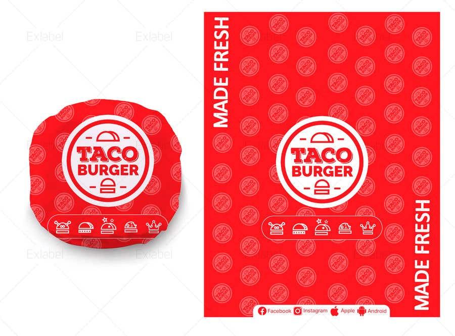 Kilpailutyö #51 kilpailussa Taco Burger Wrapper Design